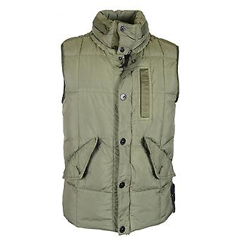 Stone Island Quilted Khaki Down Gilet