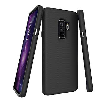 Pour Samsung Galaxy S9MD PLUS Case, Black Armor Shockproof Protective Phone Cover