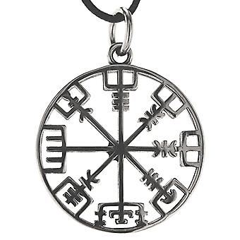 Pendant 190 viking compass - stainless steel