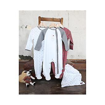 The Essential One Unisex Baby Ditsy Star Sleepsuits - 3 Pack
