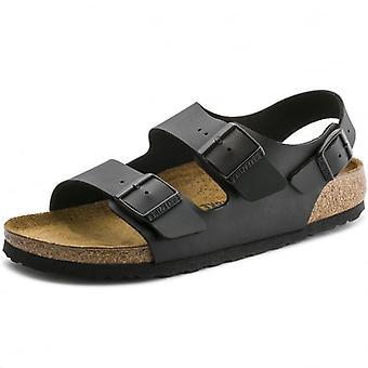 Birkenstock Milano Birko-Flor Black Ankle Strap Sandals 0034793
