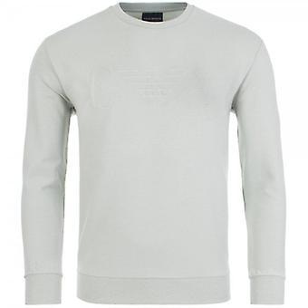 エンポリオ アルマーニ クルー ネック ロゴ スウェットシャツ ミネラルグリーン 3G1M68 1J04Z