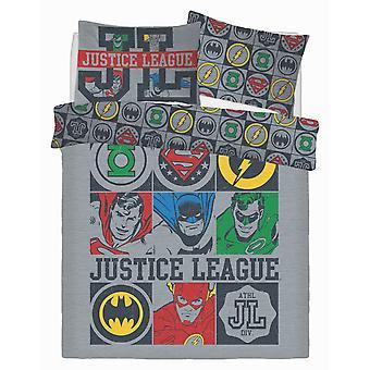 Justice League Vintage Icons Bedding Set
