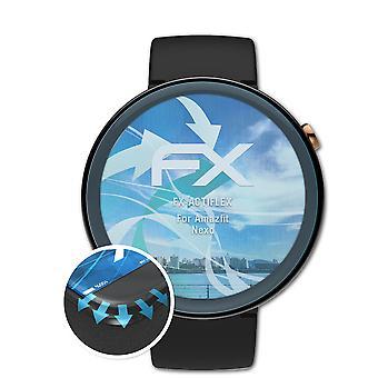 atFoliX 3x Écran protecteur compatible avec Amazfit Nexo Protecteur d'écran clair&flexible