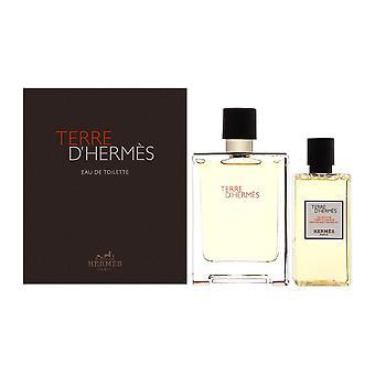 Terre d'hermes von Hermes für Männer 2 Stück Set enthält: 3,3 oz Eau de Toilette Spray + 2,7 oz alle über Dusche Gel