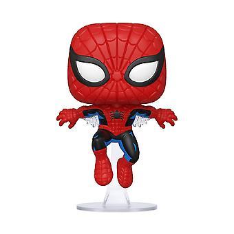 Marvel Pop! Vinile Figurine Spider-Man Prima apparizione in plastica, di Funko, in scatola regalo.