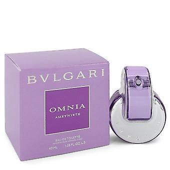 Omnia amethyste eau de toilette spray door bvlgari 439693 38 ml