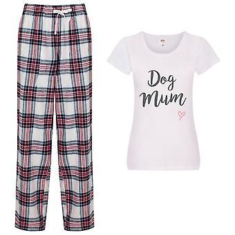 Signore Dog Mamma Tartan Pantaloni Pigiama