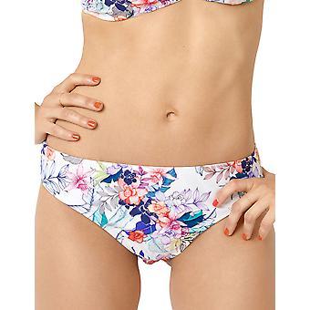 Miss Sans Complexe 68XAF04 Women's Bora Bora White Multi Floral Print Swimwear Beachwear Bikini Bottom