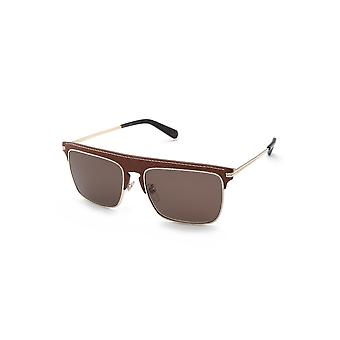 Loewe LW40006U 33E Gold/Dark Brown Sunglasses