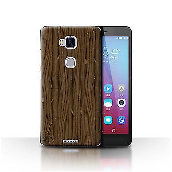 STUFF4 Gehäuse/Abdeckung für Huawei Honor 5 X/GR5/Flake/Schokolade