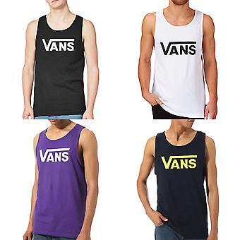 Vans Mens Classic Fit Casual Summer Cotton Scoop Neck Tank Vest Top Tee