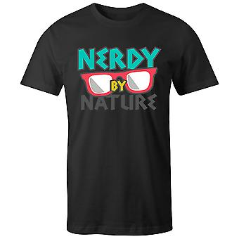 Boys Crew Neck Tee Short Sleeve Men's T Shirt- Nerdy By Nature