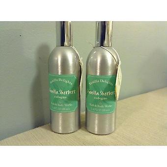 Bath & Body Works Vanilla Delights Vanilla Sherbert Cologne 3.4 oz / 100 ml