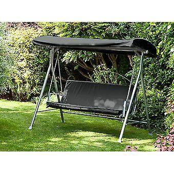 Black Replacement Canopy for Argos Malibu 3 Seater Swing Seat Hammock Garden