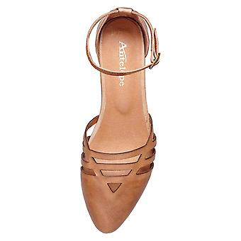 Antelope Women's 238 Leather Laser Cut Ankle Mary Jane