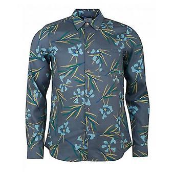 Paul Smith Floral Print Langarm Shirt