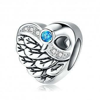 Sterling Silver Charm Swan Wings - 5732