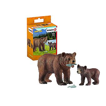 Schleich 42473 Wild Life Grizzly Bear Mother with Cub Schleich 42473 Wild Life Grizzly Bear Mother with Cub Schleich 42473 Wild Life Grizzly Bear Mother with Cub Schle
