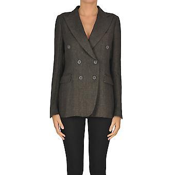 Keyfit Ezgl479005 Women's Brown Linen Blazer