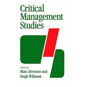 Studi sulla gestione critica di Alvesson & Mats