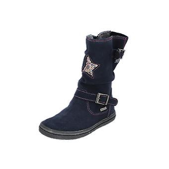 Judge Boots Kids Girls Boots Blue Lace-Up Boots Winter