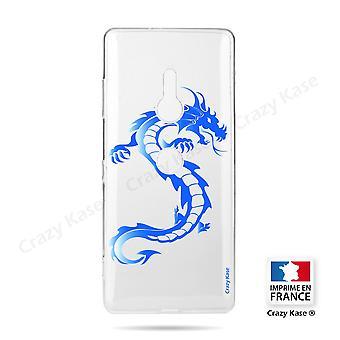 Rumpf für Sony Xperia Xz2 Soft Blue Dragon