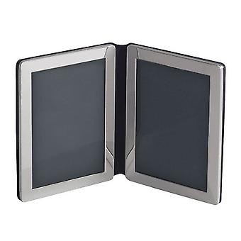 Orton West Double Photo Frame 6x4 - Silver