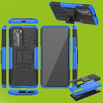 Для Huawei P40 Pro Гибридный случай 2-кусок Открытый синий корпус Рукав Защита