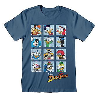 Disney DuckTales Character Squares Miehet's T-paita | Viralliset tuotteet