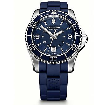 Victorinox Swiss Army Maverick Blue Dial Blue Rubber Strap Men's Watch 241603