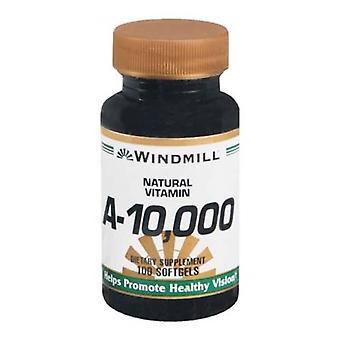 Windmill vitamin a, 10000 iu, softgels, 100 ea