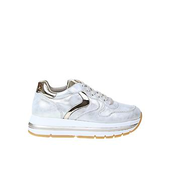 Voile Blanche 0q06001201465702 Women's Silver Leather Sneakers