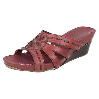 Ladies Gluv Open Toe Wedge Summer Mule Rosemar