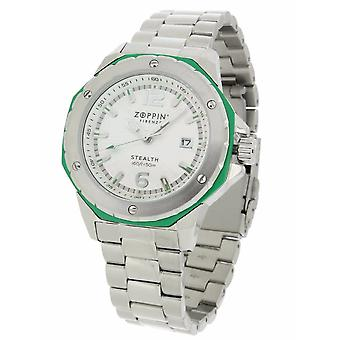 ZOPPINI Stealth Stainless Steel Green Watch