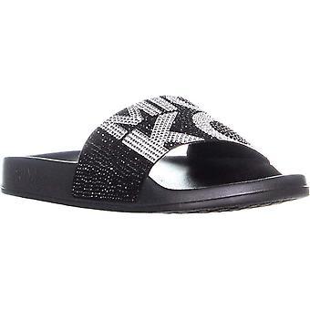 Michael Michael Kors Womens gilmore Rubber Peep Toe Casual Slide Sandals