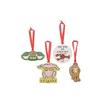 Friends set of 4 christmas decorations