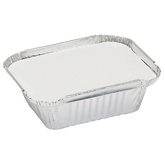 Caroline Foil Trays With Lids (Pack Of 12)