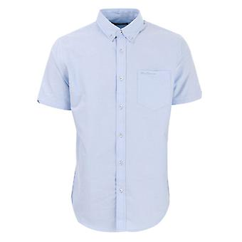 Men's Ben Sherman Oxford Kurzarm Shirt in blau