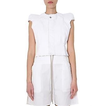 Rick Owens Drkshdw Ds20s5714sw01 Women's White Cotton Vest