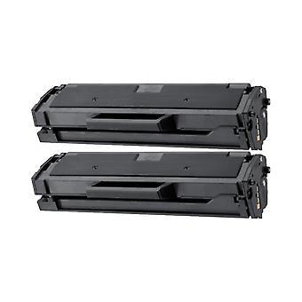 サムスン MLT D101S トナー ユニット用 RudyTwos 2 x ブラック ML-2160, と互換性のある ML-2161, 2162、ML、ML 2165W ML-2165 ML-2168、SCX-3400、SCX-3400F 社の SCX-3405、SCX-3405F 社の SCX-3405FW、SCX-3405W S
