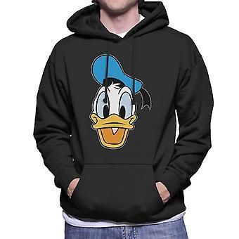 Disney klassisk Donald Duck lykkelig ansikt menn ' s Hettegenser