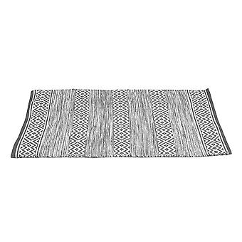 Country Club PET Rug Diamond Stripe, Grey 70 x 130cm