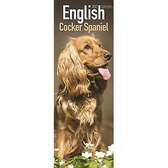 English Cocker Spaniel 2021 Slim Calendar by Created by Avonside Publishing Ltd