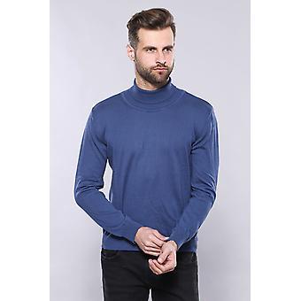 Turtleneck blue sweater   wessi