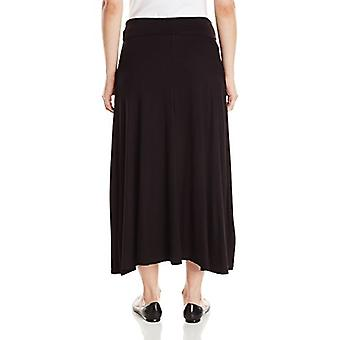 AGB Women's Soft Knit Maxi Skirt Standaard Maten, Everyday Black, Large Petite