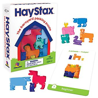 Games - Ceaco Brainwright - Hay Stax The Barnyard Packing Puzzle 8311