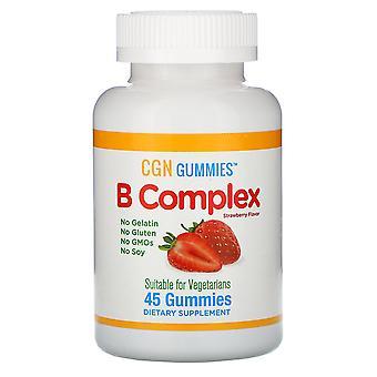 California Gold Nutrition, B Complex Gummies, No Gelatin, No Gluten, Natural Str
