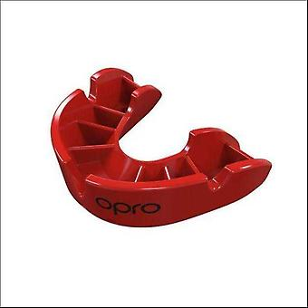 Opro junior bronze gen 4 mouth guard red