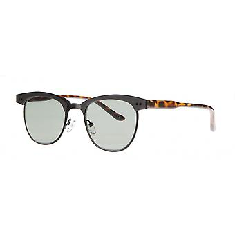 Sonnenbrille Unisex    Kat.2 matt schwarz/grün (aml19011b)